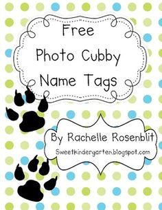 *Free* Photo Name Tags - Dog Theme