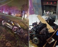 Honička Jaguaru skončila nehodou. Motor dolétl do obýváku nedalekého domu Louisiana, Monster Trucks, Sci Fi, Vehicles, Science Fiction, Car, Vehicle, Tools