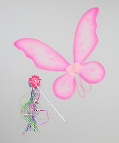 Hot Pink Pixie Wings Set