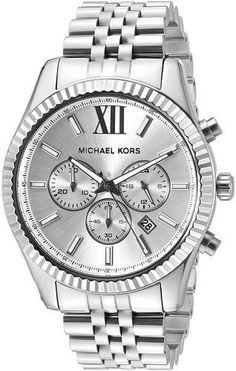 Michael Kors Men's Lexington Silver-Tone Watch MK