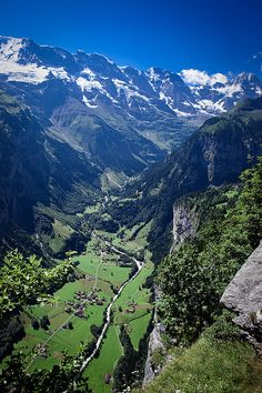Lauterbrunnen Valley, Switzerland - hiking, biking and skiing with Jeff!! It's such a beautiful place!