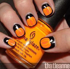 thatleanne: OPI Spookettes Halloween 2011 and Jack o'lantern nail art!