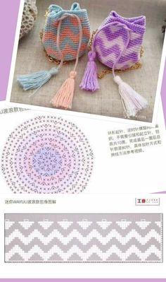 Discover thousands of images about T shirt yarn cross body bag – free written pattern – Artofit Crochet Diagram, Crochet Chart, Crochet Motif, Crochet Gifts, Cute Crochet, Handmade Kids Bags, Sacs Tote Bags, Mochila Crochet, Tapestry Crochet Patterns