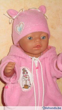 Baby born fleece roos winterpak & handschoentjes & muts - Te koop