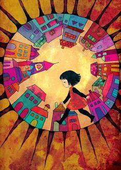 """Dorothy Law Nolte poema: """"Los niños aprenden lo que viven"""" (1954) ilustración: Moony Khoa Le http://unadelosantiguosninos.blogspot.com.es/2013/12/los-ninos-aprenden-lo-que-viven-dorothy.html"""