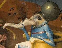 Bits of paintings by Hieronymus Bosch. Actually the second to last is Christ in Limbo by an unknown follower of Bosch, took awhile for anyon...