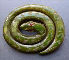 Bakelite carved coil snake | Bakelite Museum