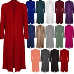Brand new in fashion ladies maxi long full length open waterfall cardigan with long sleeves and banded collar. No fastening, lovely soft floaty comfortable viscose material made fr Jumpers For Women, Sweaters For Women, Shrugs And Boleros, Chiffon Jacket, Casual Sweaters, Cardigans, Boyfriend Cardigan, Maxi Coat, Long Kimono