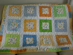 Dinosaur baby quilt ready to ship baby boy by KeyLimeDesignByJeana, $135.00