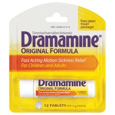 Dramamine ... if you get easily car or sea sick
