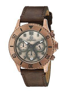 Burgmeister Reloj de cuarzo Vintage Bm532-910 Marrón-PREFERIDO-