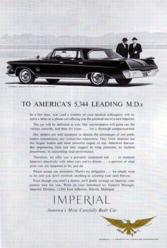 Chrysler Imperial, Amazing Cars, Chevrolet Logo, Luxury Cars, Classic Cars, Ads, Lettering, Dodge, Vehicles