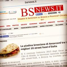 Anche BsNews parla di noi è del nostro risultato agli Oscar del Cibo di Strada 2015 a Roma.