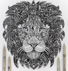 Ying yang lion