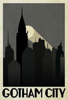 Gotham City Retro Travel Poster Prints - at AllPosters.com.au