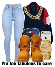 Baby im too fabulous to care by ajsavagee on Polyvore featuring Michael Kors, Timberland and Tommy Hilfiger