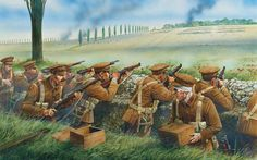 Battle of Mons on August Fig. Battle of Mons The Battle of Mons was the first battle in which participated the British Expeditionary Force during World War on the Western. Military Art, Military History, World War One, First World, Ww1 Battles, Ww1 Art, Commonwealth, World History, Warfare