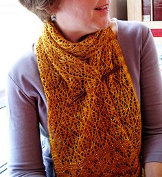 I'm knitting this scarf with a yarn I bought on a cross country trip with my boyfriend...love it.