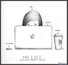 Easy Drawings Life if your like this. Cute Drawings Tumblr, Cute Easy Drawings, Love Drawings, Hair Drawings, Funny Drawings, Drawing Tips, Drawing Sketches, Drawing Ideas, Sketching