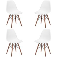 Set of 4 - Vortex Side Chairs with Walnut Legs