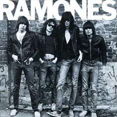 American punk rock group The Ramones. Left to right: Johnny Ramone - Tommy Ramone, Joey Ramone - and Dee Dee Ramone - Photo: Getty Images / RIP Tommy Ramones, Greatest Album Covers, Classic Album Covers, Joey Ramone, Punk Rock, Rock And Roll, The Clash, Beat On The Brat, Jimi Hendricks