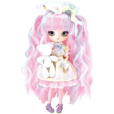 """Pullip Dolls Dal Heart Macaron x Mitsukazu x Angelic Pretty 10""""... ($160) ❤ liked on Polyvore featuring filler, toys, lolita and pink"""
