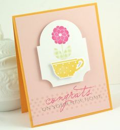 Artist: Nichole Heady Blog: Capture the Moment New Home Card Why: Looking for Flower Fusion inspiration
