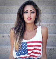 cute swag american flag tank