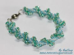 Free tutorial for Twin Wave Spiral Bracelet ~ Seed Bead Tutorials