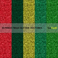 Summer Field Glitter Papers Glitter Textures Glitter by GraFunK, $1.50