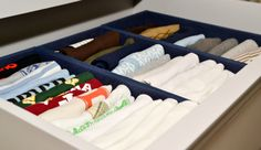 #Organized Baby Clothes - super helpful in a small #nursery.  #drawerdivider