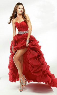 vestidos de 15 años largos rojos corto de respaldo a largo