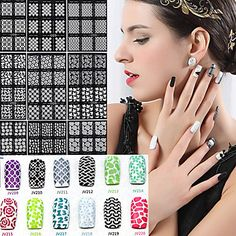 1Pcs Foreign Hot Manicure Stencil Printing by HighClassNailsss
