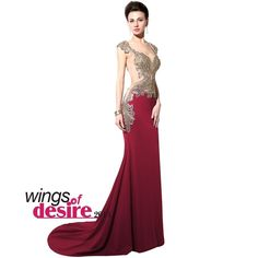 Applique Sexy Sheer Mermaid Formal Evening Prom Dresses Party Pageant Gown 6 8