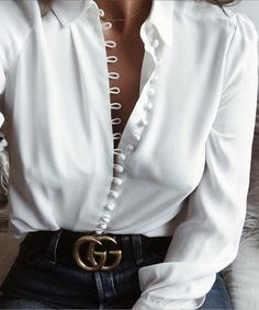 Softu Women Fashion Casual Solid Long Sleeve Blouse Lapel Shirt blouse shirt women Turn-down Collar Regular blusas Summer Shirts Fashion Casual, Look Fashion, Winter Fashion, Womens Fashion, Fashion Trends, Ladies Fashion, Classy Fashion, Fashion Ideas, Feminine Fashion