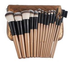 LUX15 - 15 Piece Makeup Brush Set