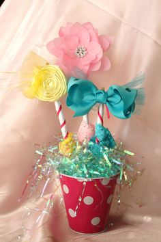 Cotton Candy Hair Clip Gift Bouquet