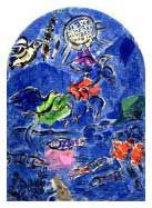 Marc Chagall, The Tribe of Ruben, from The Twelve Maquettes of Stained Glass Windows for Jerusalem Lithograph Marc Chagall, Pablo Picasso, Folklore Russe, Chagall Paintings, Jewish Art, Find Art, Les Oeuvres, Framed Artwork, Stained Glass