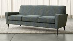 Torino 3-Seat Sofa from Crate and Barrel. Reminiscent of mid-century  modern sofas, but updated.