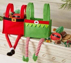 10/31 Cheryl's Elf and Santa Gift Bag - Set of2 - M115346