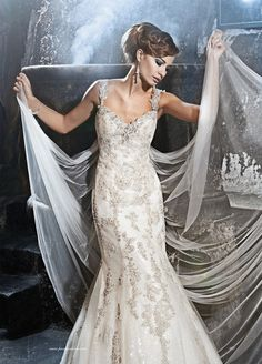 vail and wedding dress