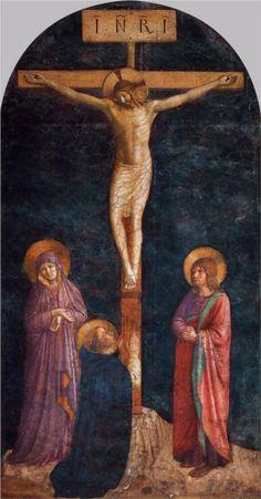 Crucificcion con santo Domingo - Fra Angelico-