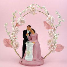 Vintage 1940s Toppers - Vintage Wedding Cake Topper 133A