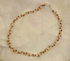 raffiniert verstrickt.... Gold Necklace, Chain, Jewelry, Knitted Necklace, Beads, Schmuck, Gold Pendant Necklace, Jewlery, Bijoux