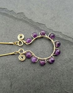 Amethyst Gold Necklace Purple Jewelry for Woman – Luzjewelrydesign