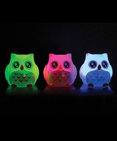 Another great find on #zulily! Light-Up Bath Owl - Set of Three by Toysmith #zulilyfinds