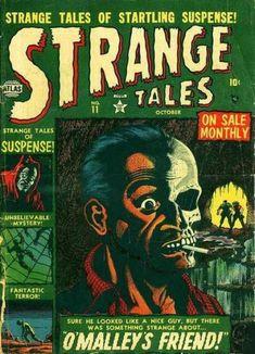 Strange Tales # 11 by Bill Everett Scary Comics, Horror Comics, Horror Art, Horror Films, Vintage Comics, Vintage Posters, Comic Book Covers, Comic Books, Marvel Masterworks