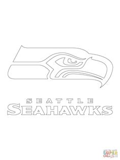 seattle seahawks logo football sport coloring pages printable and coloring book to print for free find more coloring pages online for kids and adults of
