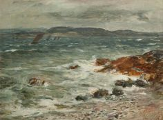 William McTaggart (Scottish, 1835-1910), A Breezy Day off Campbeltown, 1886. Oil on canvas, 43.7 x 61 cm. Hunterian Art Gallery, University of Glasgow.