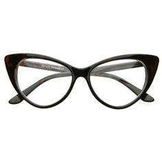 Super Cat Eye Glasses Vintage Inspired Mod Fashion Clear Lens Eyewear - List price: $30.00 Price: $5.99 Saving: $24.01 (80%)